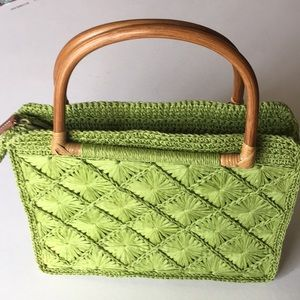 Vintage Fossil Woven Tote